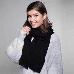 Women's winter scarf, black, 91-7F-003-1, Photo 1