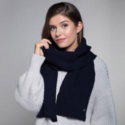 Women's winter scarf, navy blue, 91-7F-003-7, Photo 1