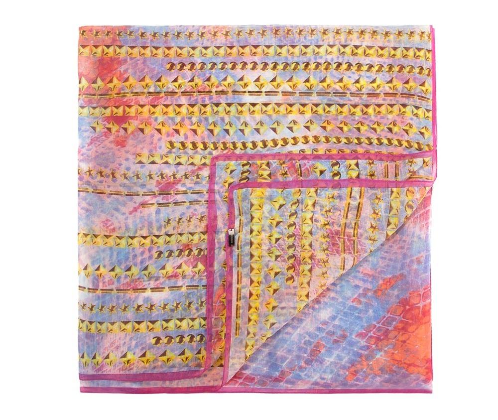 Платок женскийЖенская шаль выполнена из шелка с знаком наивысшего качества King Silk. Воздушный, полупрозрачный платок - это модный аксессуар, который будет отлично сочетаться с летними образами.<br><br>секс: женщина<br>Цвет: разноцветный<br>материал:: Шелк
