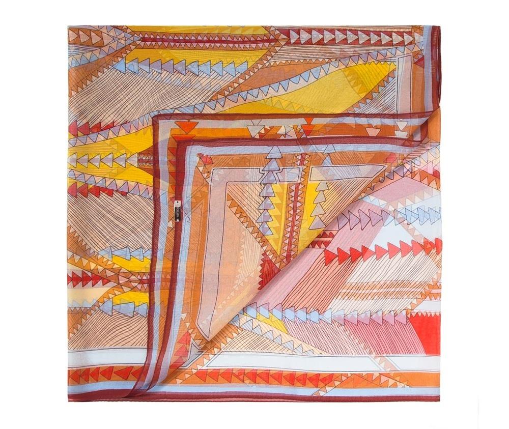 Платок женскийЖенская шаль выполнена из шелка с знаком наивысшего качества King Silk. Воздушный материал в сочетании с множеством разнообразных цветов делают эту модель, несомненно, привлекательной.<br><br>секс: женщина<br>Цвет: разноцветный<br>материал:: Шелк