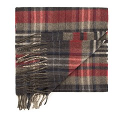 Men's scarf, grey-red, 85-7M-W03-X1, Photo 1