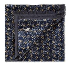 Men's scarf, navy blue-yellow, 85-7M-X01-X4, Photo 1