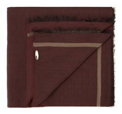 Men's scarf, burgundy, 85-7M-X02-2, Photo 1