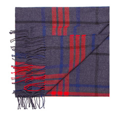 Men's scarf, navy blue-red, 85-7M-X99-1, Photo 1