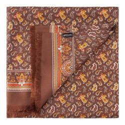 Men's scarf, brown-orange, 86-7M-S40-X01, Photo 1
