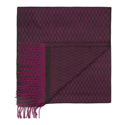 Men's scarf, black-violet, 87-7M-X03-X1, Photo 1