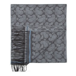 Men's scarf, grey, 87-7M-X03-X7, Photo 1