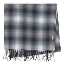 Męski szalik bawełniany cienki, szaro - niebieski, 91-7M-X01-X1, Zdjęcie 1