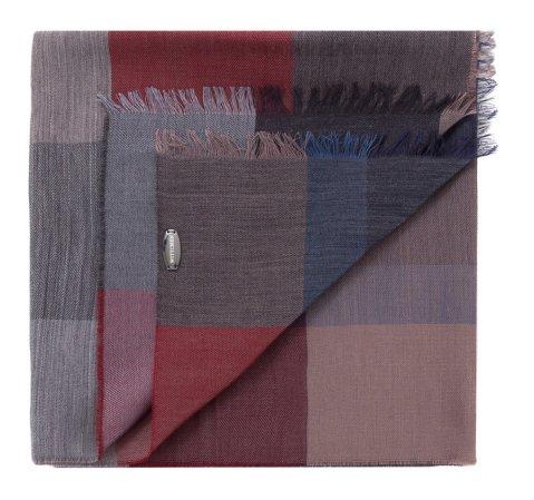 Szal męski, szaro - czerwony, 83-7M-X01-X01, Zdjęcie 1