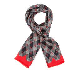 Men's scarf, red-black, 84-7M-S40-X01, Photo 1
