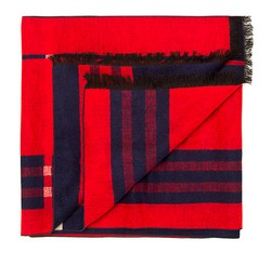 Men's scarf, red-navy blue, 85-7M-S40-X8, Photo 1