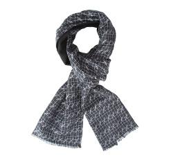 Men's scarf, grey-black, 84-7M-X01-X01, Photo 1
