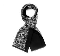 Men's scarf, graphite-silver, 85-7M-X01-X1, Photo 1