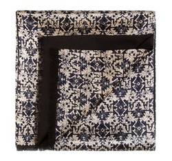 Men's scarf, navy blue-black, 85-7M-X01-X3, Photo 1