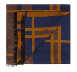 Men's scarf, blue, 85-7M-S40-X11, Photo 1
