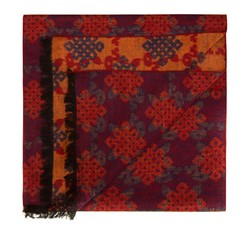 Men's scarf, orange, 85-7M-S40-X2, Photo 1