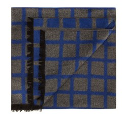 Men's scarf, blue-grey, 85-7M-S40-X5, Photo 1