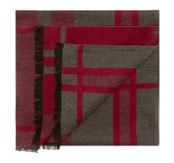 Men's scarf, burgundy-grey, 85-7M-S40-X6, Photo 1