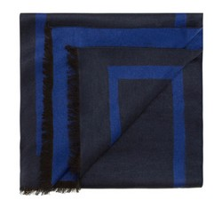 Men's scarf, navy blue, 85-7M-S40-X9, Photo 1