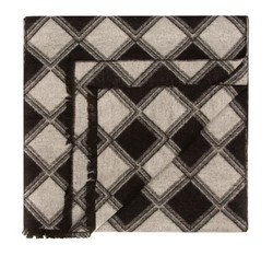 Men's scarf, black-white, 85-7M-S41-X1, Photo 1