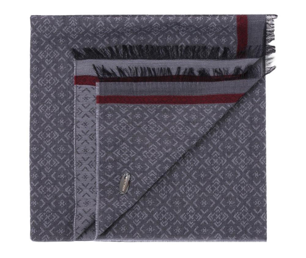 Шарф мужскойМужской шарф выполнен из высококачественных материалов. Модель с  бахромой отличное предложение для мужчин, которые ценят элегантность и качество.<br><br>секс: мужчина<br>Цвет: серый<br>материал:: Шерсть<br>ширина (см):: 60