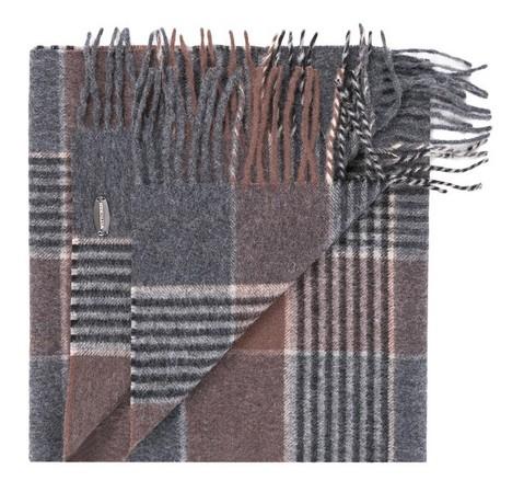 Szal męski, szaro - brązowy, 83-7M-W01-X02, Zdjęcie 1