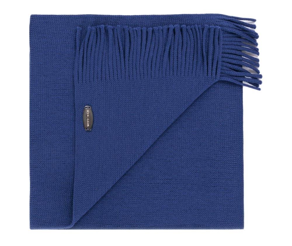 Шарф мужскойМужской шарф выполнен из шерсти. Очень элегантная модель с бахромой идеальный вариант для мужчин, которые ценят роскошь.<br><br>секс: мужчина<br>Цвет: синий<br>материал:: Шерсть<br>ширина (см):: 30