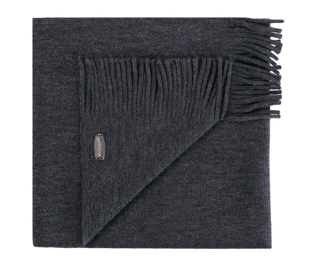 Шарф мужскойМужской шарф выполнен из шерсти. Очень элегантная модель с бахромой идеальный вариант для мужчин, которые ценят роскошь.<br><br>секс: мужчина<br>Цвет: серый<br>материал:: Шерсть<br>ширина (см):: 30
