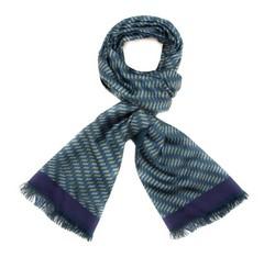 Men's scarf, blue, 85-7M-S42-X4, Photo 1