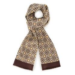 Men's scarf, brown-beige, 88-7M-S40-X2, Photo 1