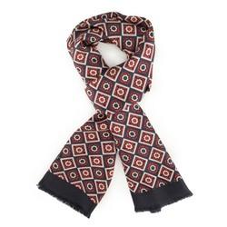 Men's scarf, navy blue-red, 88-7M-S40-X3, Photo 1