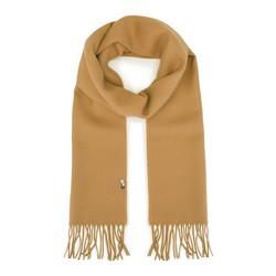 Men's fringe scarf, camel, 91-7M-X02-0, Photo 1