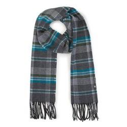 Men's scarf, grey-turquoise, 91-7M-X04-X1, Photo 1