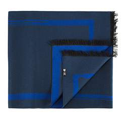Men's scarf, navy blue, 83-7M-S40-X3, Photo 1