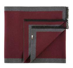 Men's scarf, burgundy-grey, 83-7M-S40-X6, Photo 1