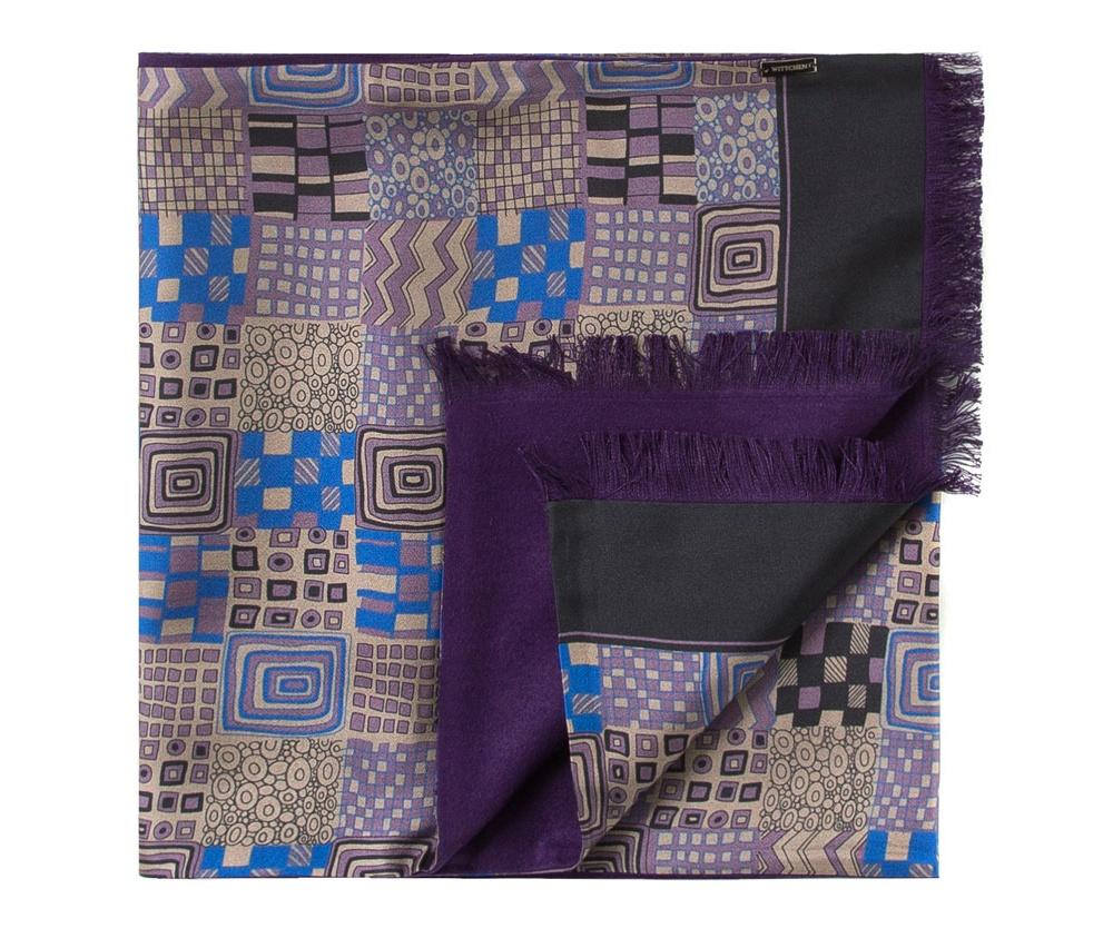 Шарф мужскойДвусторонний мужской шарф  из шелка с знаком наивысшего качества King Silk. Слегка глянцевый сторона с узором подойдет для менее обязывающего стиля, а однотонная сторона идеально сочетается с элегантным образом.<br><br>секс: мужчина<br>Цвет: фиолетовый<br>материал:: Шелк<br>высота (см):: 164<br>ширина (см):: 31