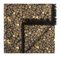 Men's scarf, gold-black, 83-7M-S41-X2, Photo 1