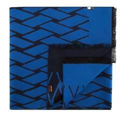 Szal męski, niebiesko - czarny, 81-7M-S40-X07, Zdjęcie 1