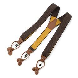 Męskie szelki do spodni, brązowo - żółty, 91-SZ-001-X2, Zdjęcie 1