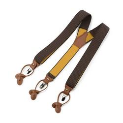 Męskie szelki ze wzorem, brązowy, 93-SZ-001-X2, Zdjęcie 1
