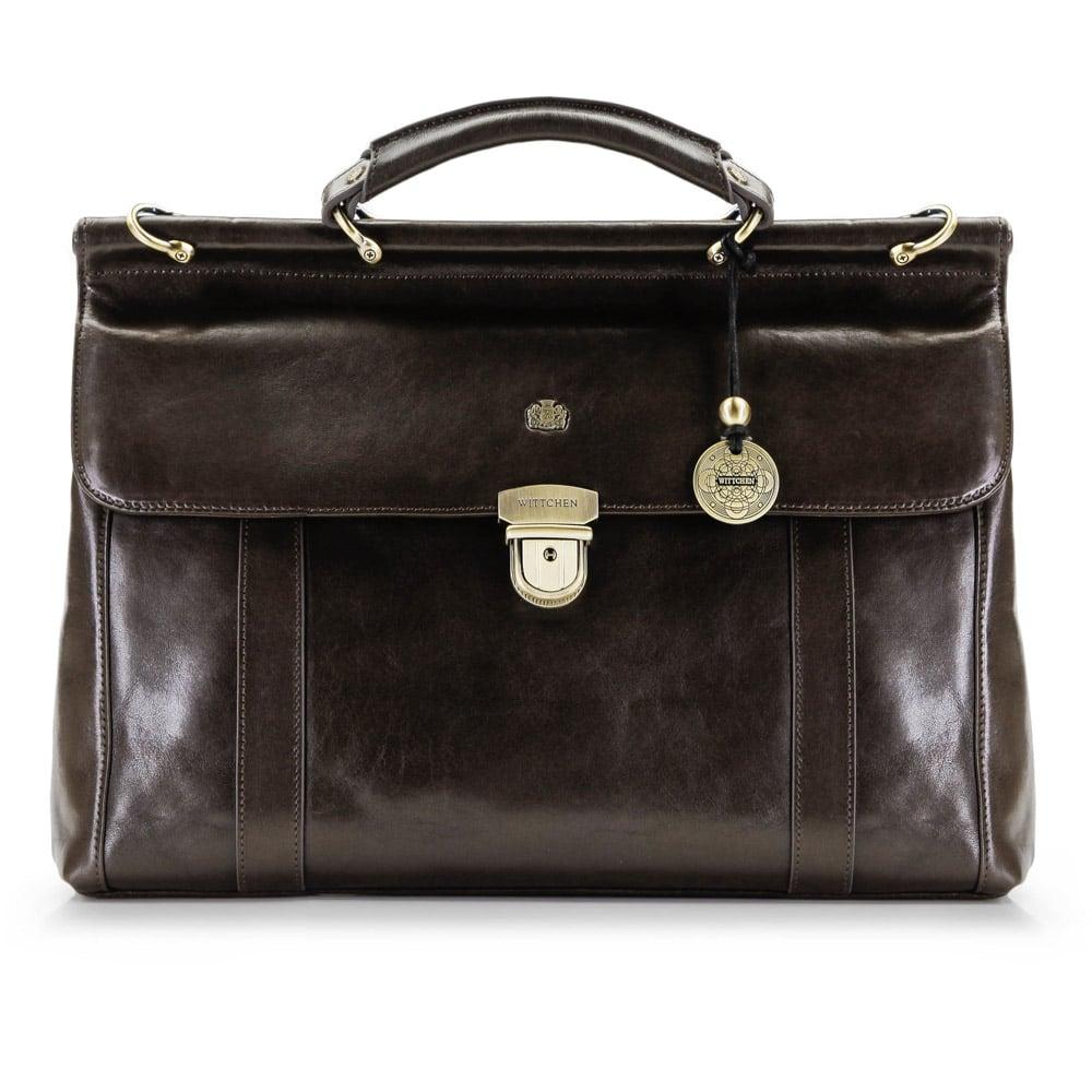 Luxusná pánska taška hnedej farby