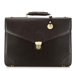 Briefcase, dark brown, 02-3-016-4, Photo 1