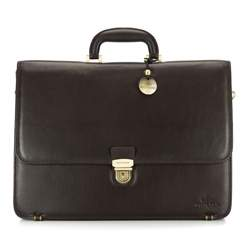 Briefcase, dark brown, 02-3-026-4, Photo 1