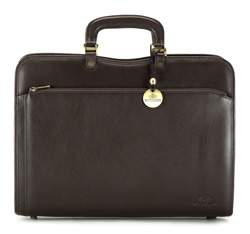 Briefcase, dark brown, 02-3-053-4, Photo 1