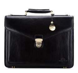 Briefcase, black, 21-3-145-1, Photo 1
