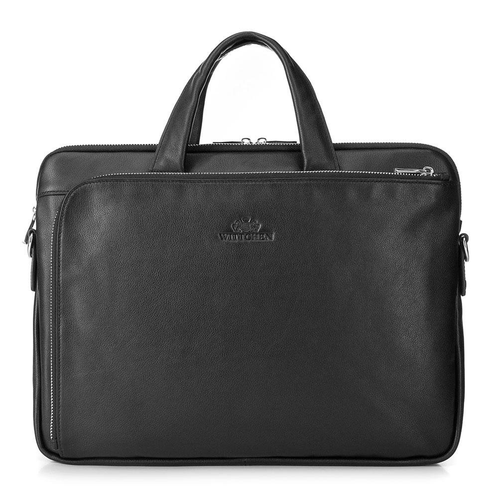 Kvalitná kožená taška na notebook.