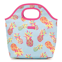 Lunch tote bag, blue - pink, 56-3-019-PA, Photo 1