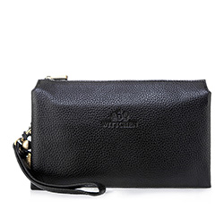 Men's clutch bag, black, 83-3U-312-1, Photo 1