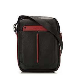 Torba, czarno - czerwony, 86-4P-104-1R, Zdjęcie 1