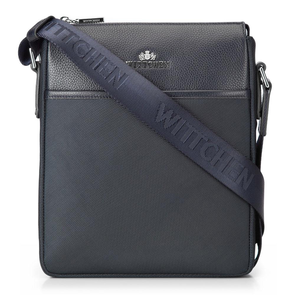 Modrá taška na rameno z kolekcie Elegance.